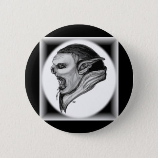 Troll black and white Design Button
