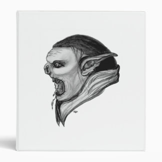 Troll black - white design binder