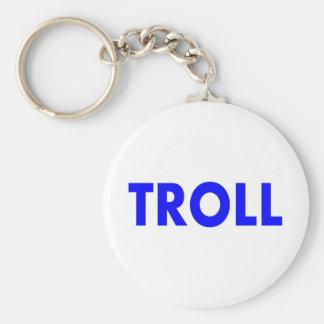 Troll Blue Keychain