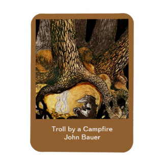 Troll by a Campfire Magnet