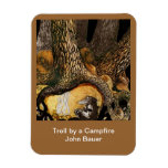 Troll by a Campfire Rectangle Magnets