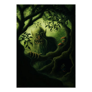 troll country fantasy art poster