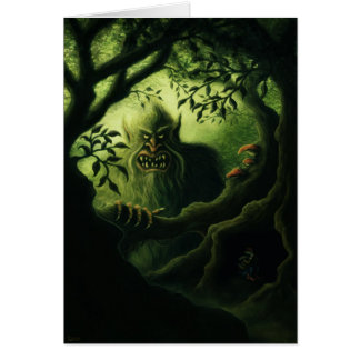troll country fantasy note card