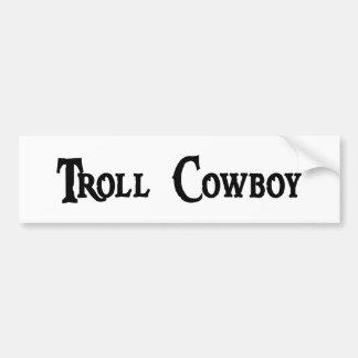 Troll Cowboy Bumper Sticker Car Bumper Sticker