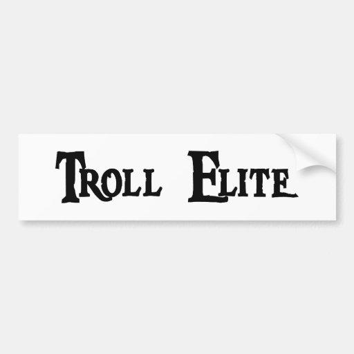 Troll elite bumper sticker zazzle for Elit templates sticker