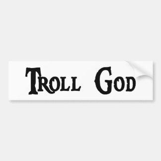 Troll God Bumper Sticker