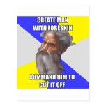 Troll God Circumcision Postcard