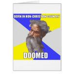 Troll God Doomed Greeting Card