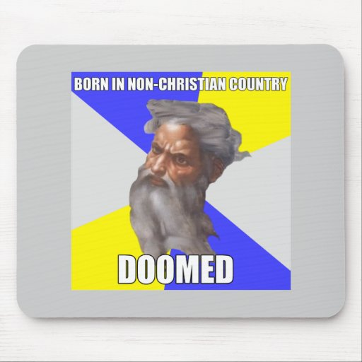 Troll God Doomed Mouse Pad