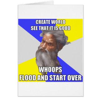 Troll God Flood Greeting Card