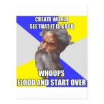 Troll God Flood Postcard
