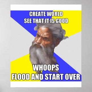 Troll God Flood Print