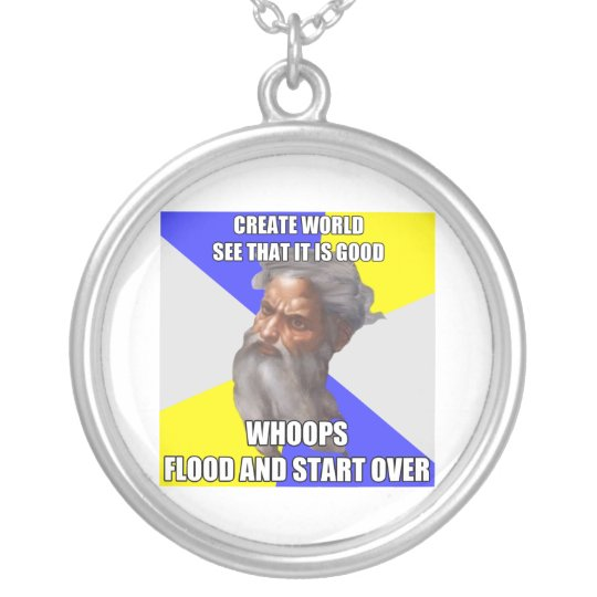 Troll God Flood Silver Plated Necklace