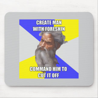 Troll God Foreskin Mouse Pad