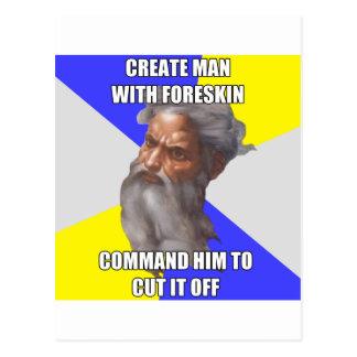 Troll God Foreskin Postcard