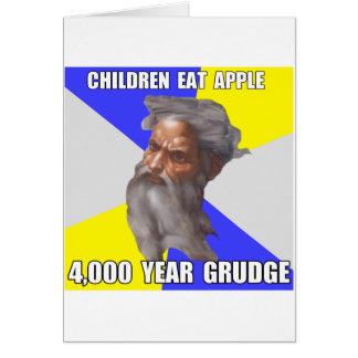 Troll God Grudge Greeting Card