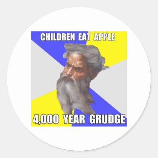 Troll God Grudge Classic Round Sticker