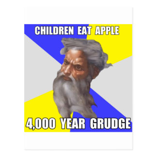 Troll God Grudge Postcard
