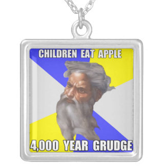 Troll God Grudge Square Pendant Necklace