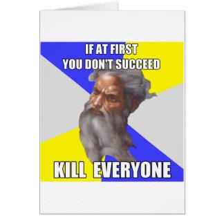 Troll God Kills Card