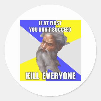 Troll God Kills Classic Round Sticker