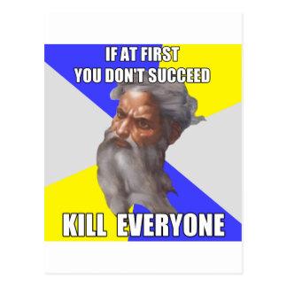 Troll God Kills Postcard