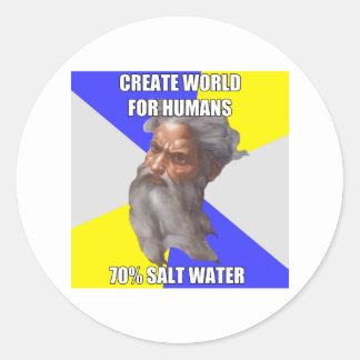 Troll God Saltwater Classic Round Sticker