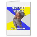 Troll God Saltwater Greeting Card