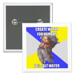 Troll God Saltwater Pinback Button