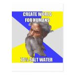 Troll God Saltwater Postcard