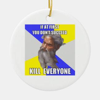 Troll God Try Again Christmas Ornament