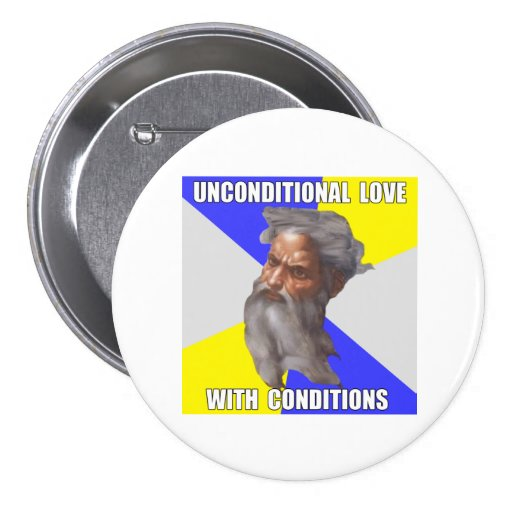 Troll God Unconditional Love Buttons
