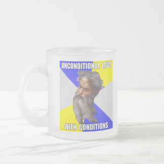 Troll God Unconditional Love Frosted Glass Coffee Mug