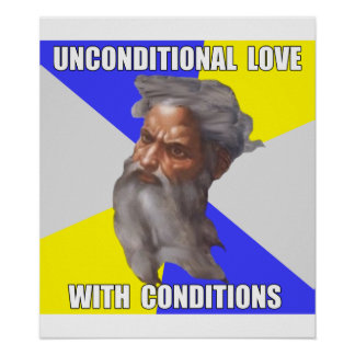 Troll God Unconditional Love Posters
