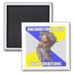 Troll God Unconditional Love Refrigerator Magnets