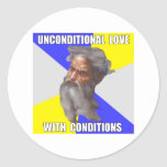 Troll God Unconditional Love Round Stickers
