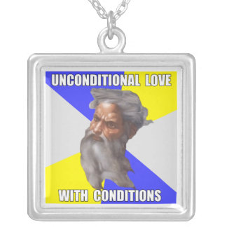 Troll God Unconditional Love Square Pendant Necklace