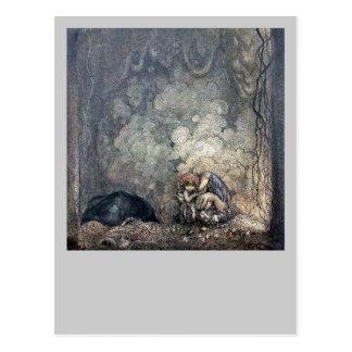 Troll Holding Child Postcard