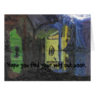 Troll in Cave Greeting Card for the Incarcerated