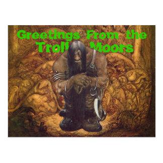 Troll Moors Greetings Postcards