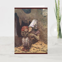 Troll Mother and Child by John Bauer Holiday Card