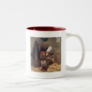 Troll Mother and Child by John Bauer Two-Tone Coffee Mug