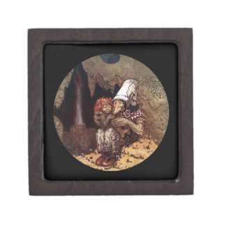 Troll Mother and Child Jewelry Box