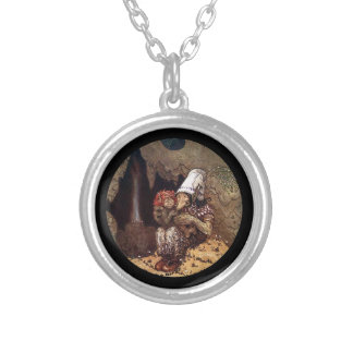Troll Mother and Child Silver Plated Necklace