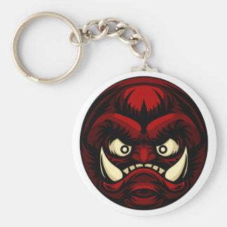 Troll or Monster Icon Emoticon Keychain