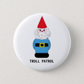 Troll Patrol Scandinavian Gnome Button