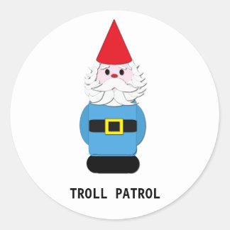 Troll Patrol: Scandinavian Gnome Classic Round Sticker