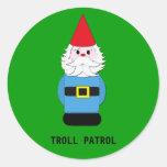 Troll Patrol Scandinavian Gnome Classic Round Sticker