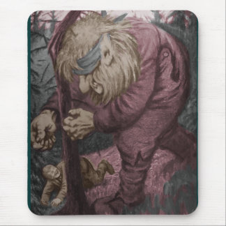 Troll Tearing Down Tree Mouse Pad