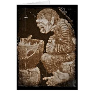 Troll with Giant Cauldron Card